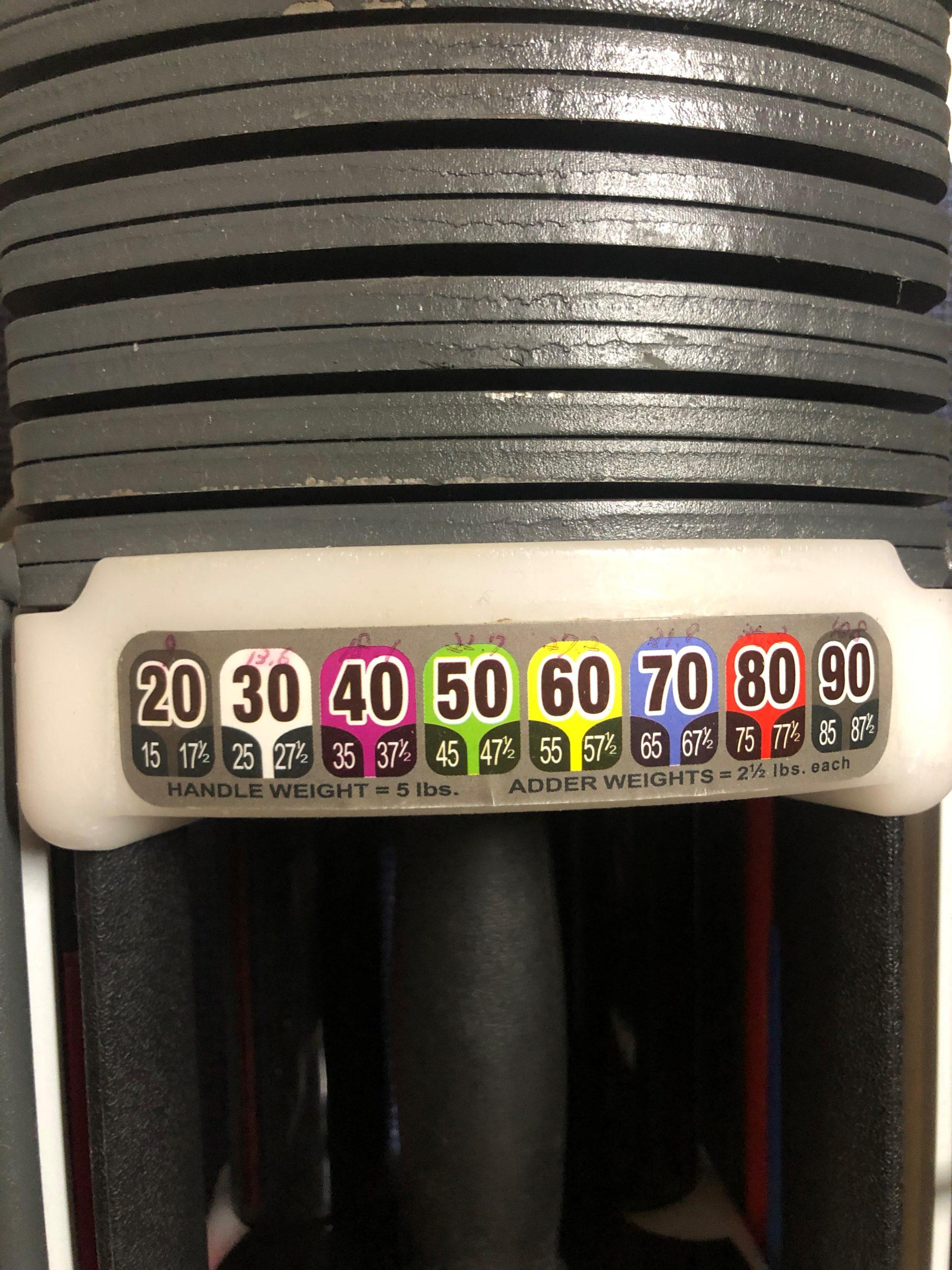パワーブロック(類似品)のレビュー①:重量がポンド形式
